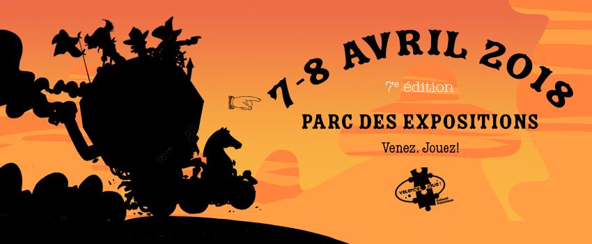 bandeau d'annonce de la 7e édition du Festival du jeu de Valence