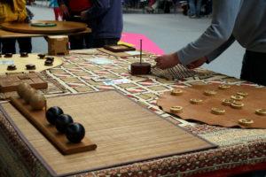 jeux en bois pendant le Festival du jeu de Valence 2016
