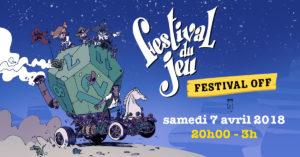 évènement facebook du Festival du jeu OFF de Valence 2018