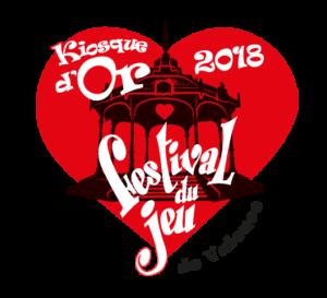 Logodu prix Kiosque d'Or 2018 du Festival du jeu de Valence