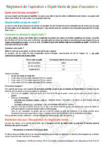 règlement du dépôt-vente de jeux d'occasion 2018 organisé par l'association Stratagemme au 7e Festival du jeu de Valence