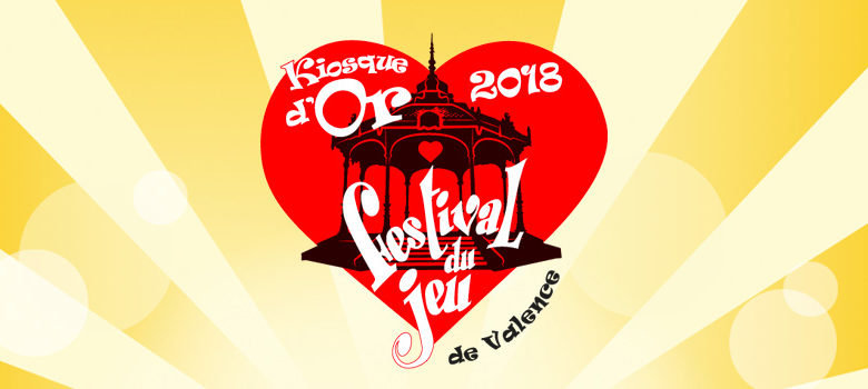LOGO du prix Kiosque d'Or 2018 du festival du jeu de Valence