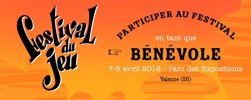 recherche de bénévoles pour le Festival du jeu de Valence