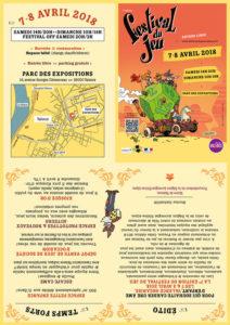 Programme A4 de la 7e édition du Festival du jeu de Valence les 7 et 8 avril 2018.