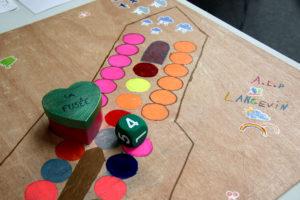 jeu réalisé par l'ALP de l'école élémentaire Langevin pour le Festival du jeu de Valence 2018