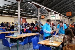 tables de jeux au Festival du jeu de Valence 2018