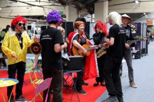 la troupe de théâtre d'improvisation Les Givrés pendant le Festival du jeu de Valence 2018