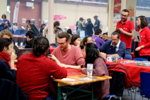 jeu sur le stand MAD distribution pendant le Festival du jeu de Valence 2018