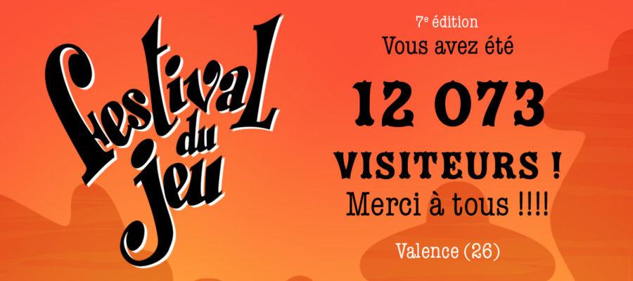 12073 visiteurs pour la 7e édition du Festival du jeu de Valence 2018