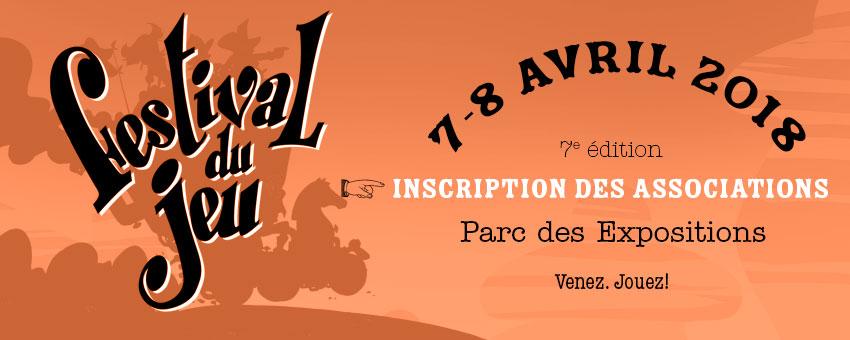 image d'en-tête inscription des associations au 7e festival du jeu de Valence