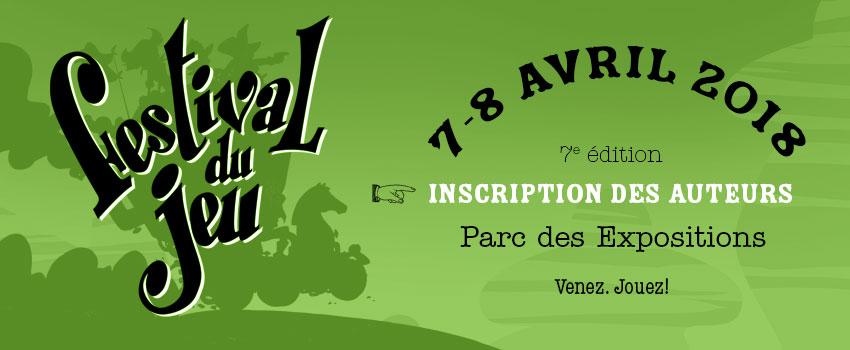 image d'en-tête inscription des auteurs au 7e festival du jeu de Valence