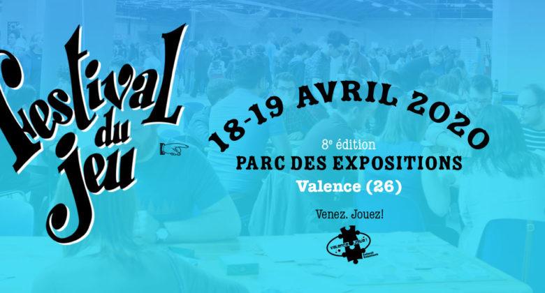 Festival du jeu de Valence 8e édition 18-19 avril 2020