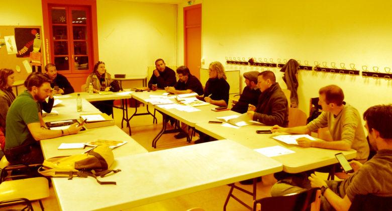 Réunion de l'équipe du Festival du jeu de Valence pour la préparation de l'édition 2020.