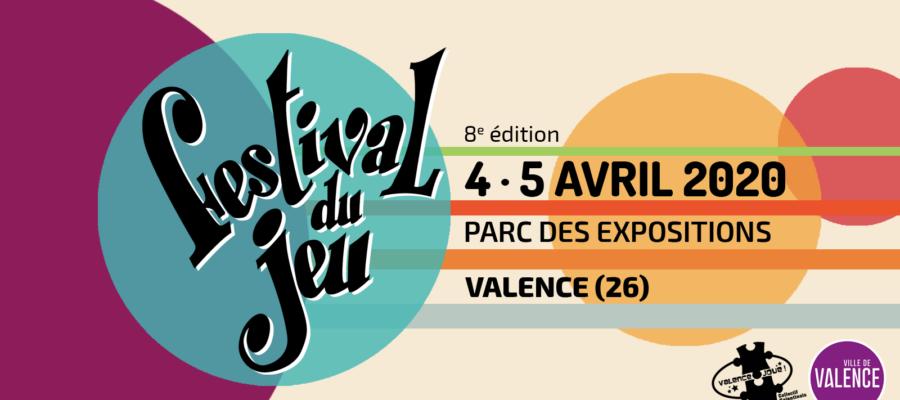 Visuel de l'évènement annonçant la prochaine édition du Festival du jeu de Valence en 2020