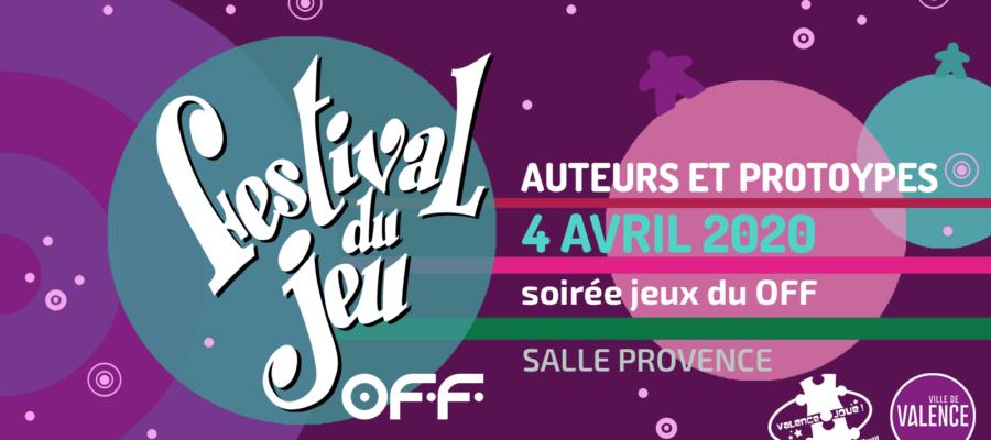 auteurs et prototypes présents à la soirée jeux du Festival OFF du jeu de Valence le 4 avril 2020