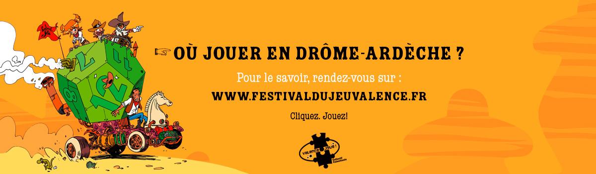 bandeau de la page où jouer à Valence? Liste non exhaustive des lieux autour du jeu de société à Valence et dans sa région (Drôme-Ardèche-Isère).