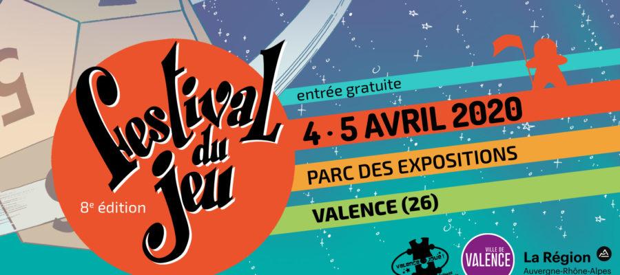 bandeau du Festival du jeu de Valence 2020