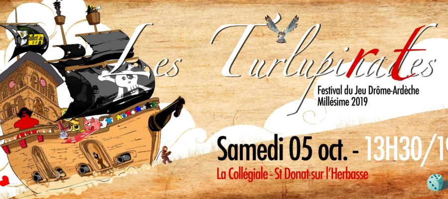 Couverture de la page Facebook du festival du jeu itinérant les Turlupinades 2019