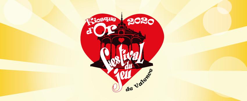 bandeau des prix Kiosque d'or 2020 du Festival du jeu de Valence