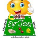 logo de la boutique de jeux de société Eyr'jeux à Saint-Sauveur-de-Montagut
