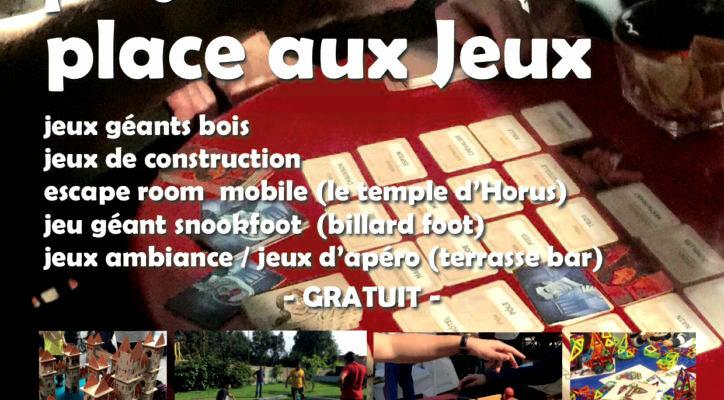 Fete place aux jeux, journée ludique au Cheylard en Ardèche samedi 31 juilllet 2021