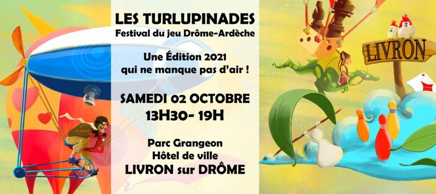 bandeau de l'article les turlupinades 2021, festival du jeu itinérant Drôme Ardèche