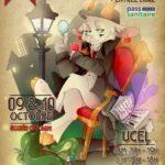 affiche du 4e Festiva du jeu de société organisé par l'association Le 07 qui prend à Ucel en Ardèche