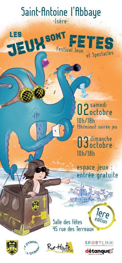 programme de la première édition des Jeux sont fêtes à Saint Antoine L'abbaye