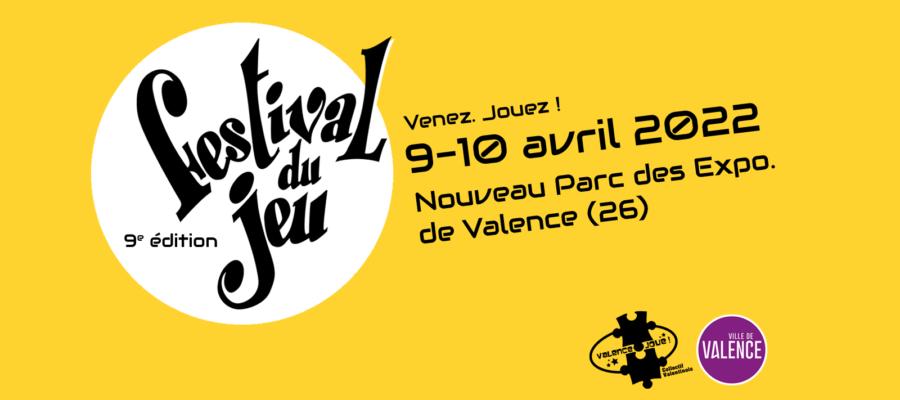 festival du jeu de Valence bandeau d'annonce de l'édition 2022