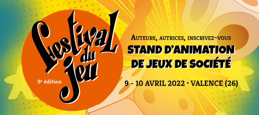 Inscritpion des auteurs et autrices au Festival du jeu de Valence 2022